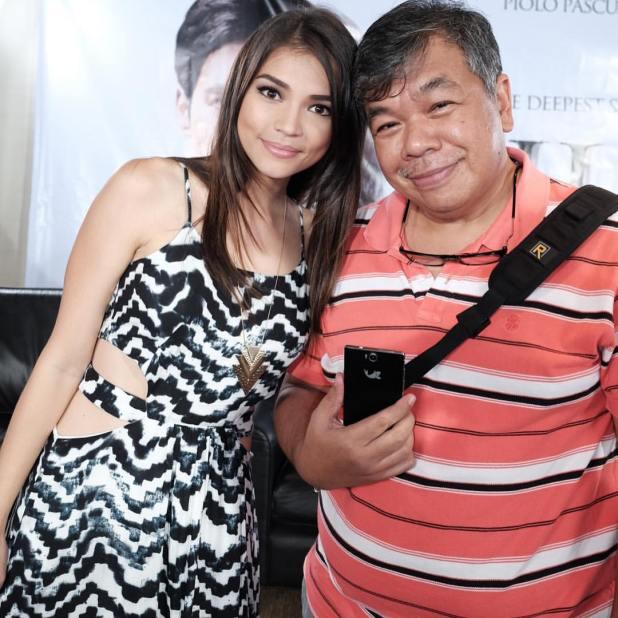 Silong Presscon Ted Claudio with Rhian Ramos Kata i4 mobile blackrapid strap