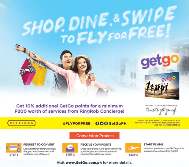 Shop, dine and swipe to Fly for Free!