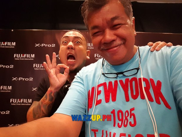 Photo ops with Jay Contreras of Kamikazee Interview at the Fujifilm X-Pro2 X-E2s X70 Launch