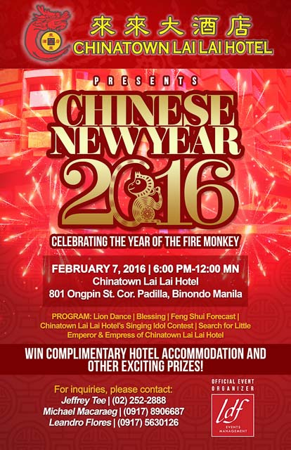 EXPERIENCE THE SPECIAL CELEBRATION OF CHINESE NEW YEAR AT CHINATOWN LAI LAI HOTEL-2