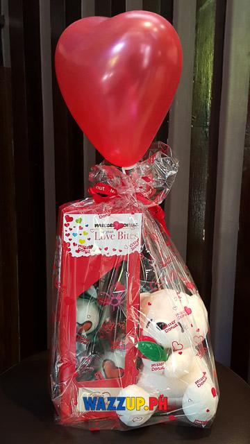 Mr donut valentines gift teddy bear -145614