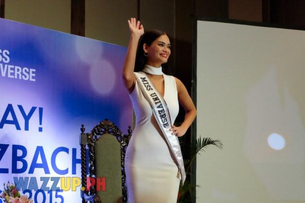 Ms Universe Pia Wurtzbach Presscon at the Bb. Pilipinas  2016 Pageant Night -6116