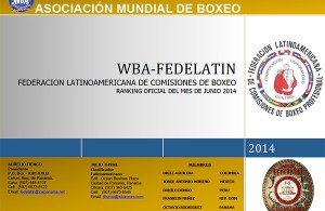Ranking WBA FEDELATIN as of June 2014