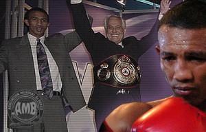 Antonio Cermeño - WBA President Gilberto Mendoza