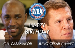 Julio César Chávez and Joel Casamayor celebrate their birthdays