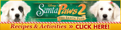 download Santa Paws 2 Recipes and Activities!