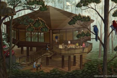 treehouse villas exterior rendering