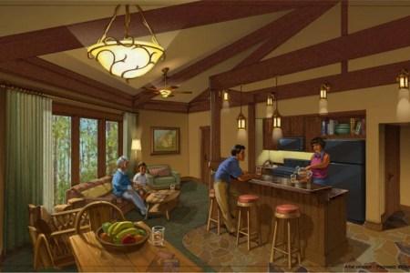 treehouse villas interior rendering
