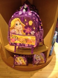Rapunzel backpack and lunch box