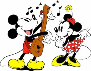 Mickey and Minnie Playing Music