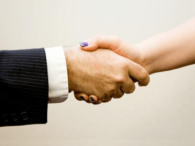 shaking hand
