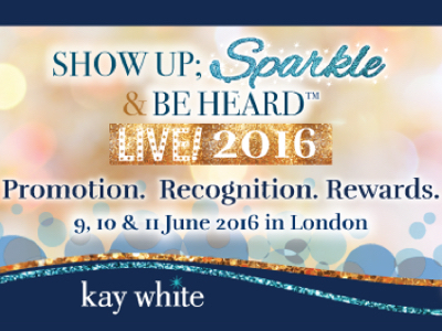 SHOW UP; SPARKLE & BE HEARD