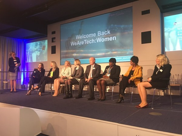 q&a panel at WeAreTech: Women conference