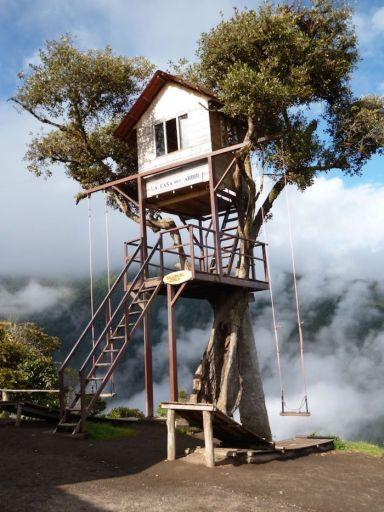 Casa del Arbol ecuador schommel