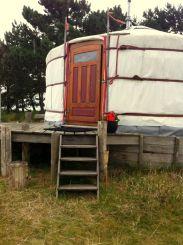 Slapen in een yurt Texel