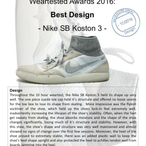 Weartested Awards 2016: Best Design