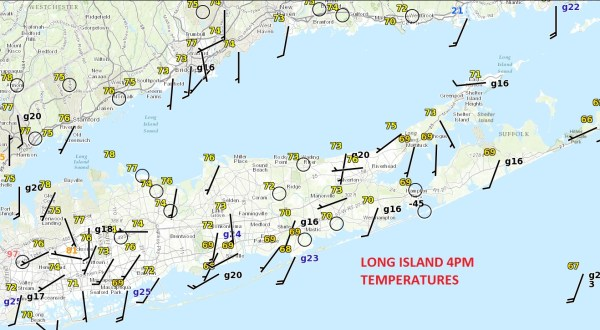long island record highs