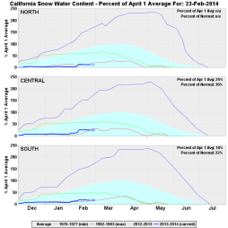 Sierra snowpack remains at or near all-time record-low levels. (CA DWR)
