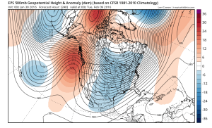 Long range models suggest the potential for high-amplitude but relatively transient ridging over the next 7-10 days. (NCEP via tropicaltidbits.com)