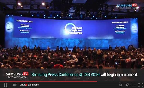 ces 2014 mira en vivo conferencia samsung