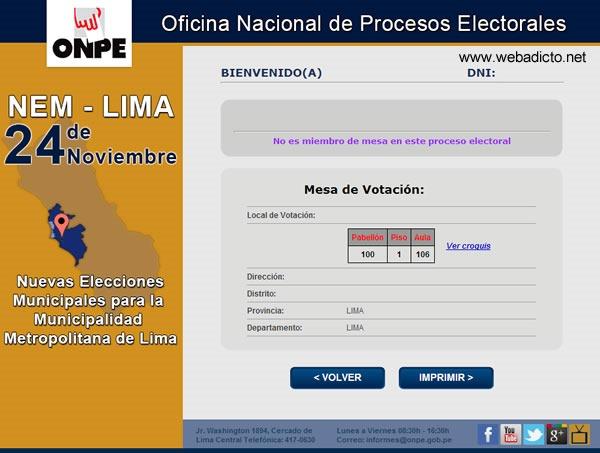 onpe donde me toca votar 24 noviembre 2013