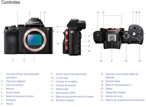 sony alpha 7 y sony alpha 7r mirrorless full frame controles 2