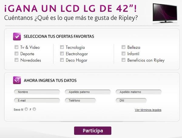sorteo-televisor-lcd-42-pulgadas-ripley-peru-formulario
