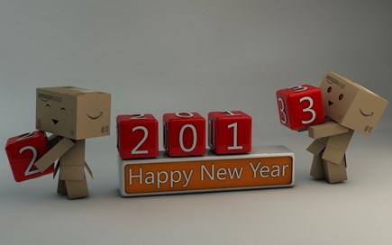 danbo happy new year 2013 by dracu teufel666 d5ncg3f Download Happy New Year 2013 Wallpaper for Desktop, iPad, Mobile