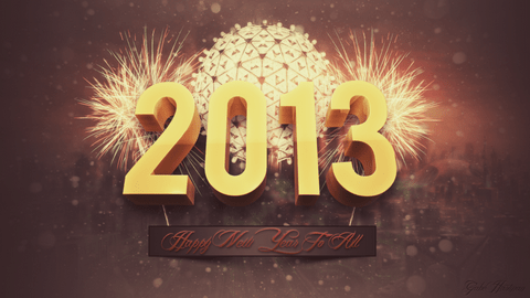 new year 2013 by voxadub Download Happy New Year 2013 Wallpaper for Desktop, iPad, Mobile