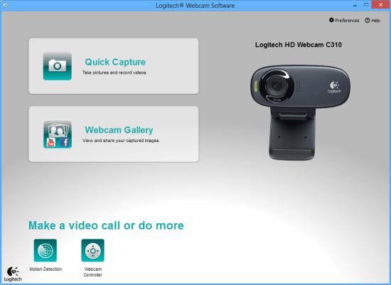 Logitech HD Webcam C310 software
