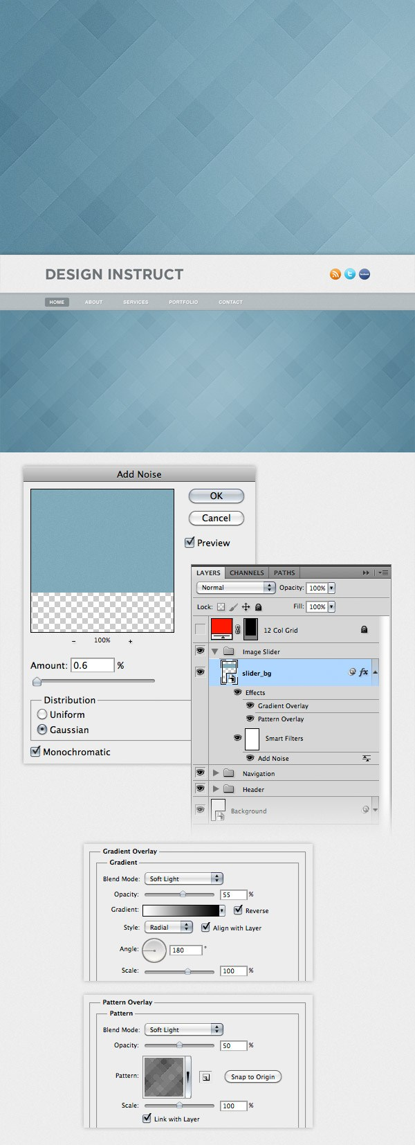 Irresistible Use Settings From Following N Go To Filter Noise Add Noiseand Add A Create A Light Textured Web Design Photoshop On This Layer To Open Layer Style Window dpreview Photoshop Flip Layer