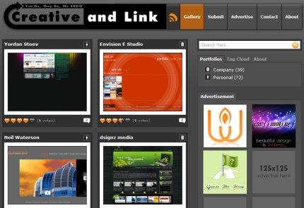 creativeandlink homepage