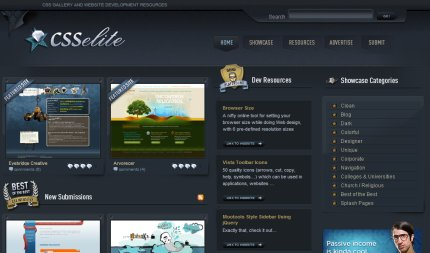 csselite homepage