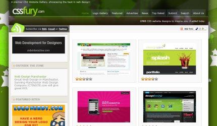 cssfury homepage