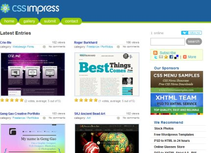 cssimpress homepage