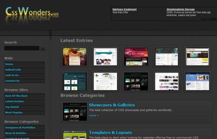 csswonders homepage