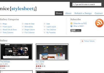 nicestylesheet homepage