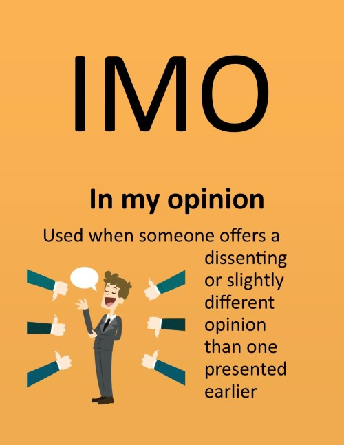 Medium Of What Does Imo Stand For