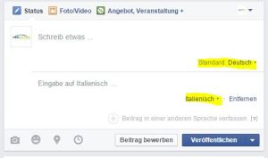 Facebook Beitragsfeld