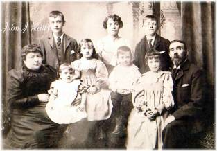 The Andrew Reilly family in Ireland prior to John's departure to America