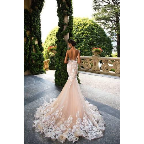 Medium Crop Of Blush Wedding Dress