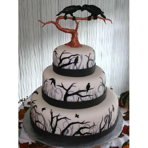 Medium Crop Of Halloween Wedding Cakes