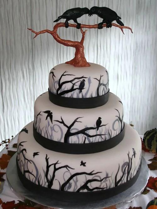 Medium Of Halloween Wedding Cakes