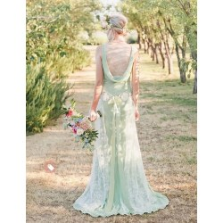 Small Crop Of Green Wedding Dresses