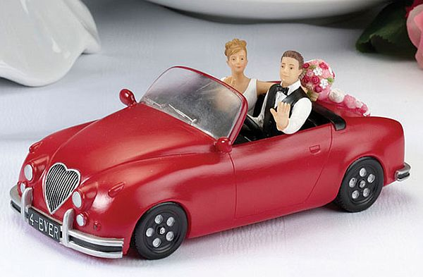 Car wedding cake topper
