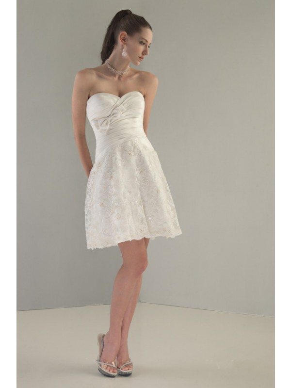 Taffeta Mini Wedding Dress by Venus Bridals