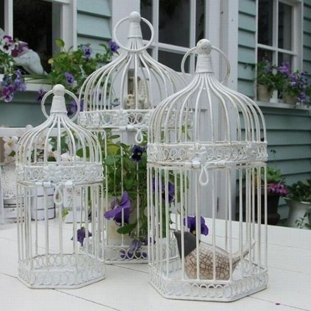 Wrought iron birdcages