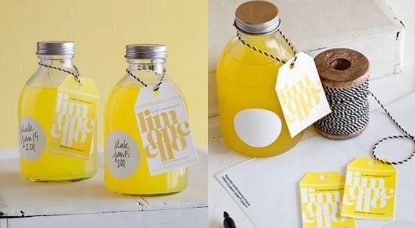 Homemade limoncello wedding Favors