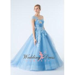 Small Crop Of Light Blue Wedding Dress
