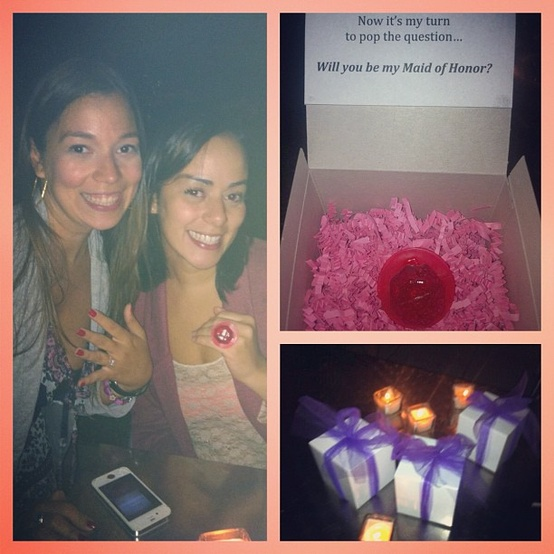 """Proposing"" to Your Maid of Honor – A Super Cute Idea"